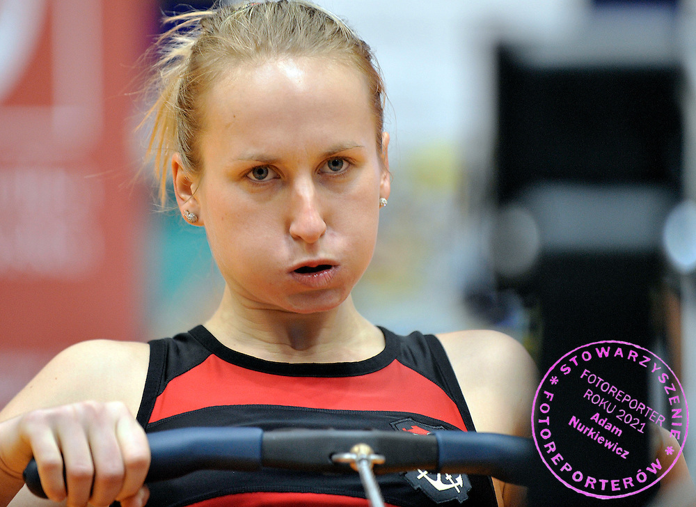 NATALIA MADAJ COMPETES DURING 20TH POLISH CHAMPIONSHIPS IN ROWING ERGOMETER AT ORBITA HALL IN WROCLAW, POLAND...WROCLAW , POLAND , JANUARY 29, 2011..( PHOTO BY ADAM NURKIEWICZ / MEDIASPORT )