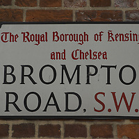 Brompton Road sign, London