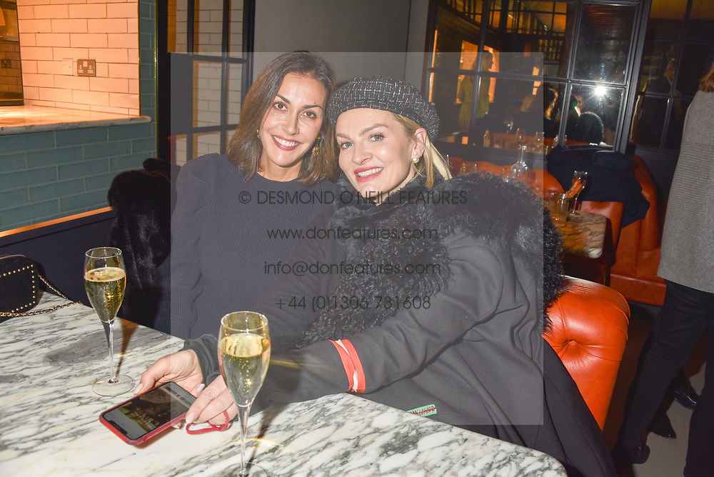 21 November 2019 - Left, Natasha Caine at the launch of Sam's Riverside Restaurant, 1 Crisp Walk, Hammersmith hosted by owner Sam Harrison, Edward Taylor and Jack Brooksbank.<br /> <br /> Photo by Dominic O'Neill/Desmond O'Neill Features Ltd.  +44(0)1306 731608  www.donfeatures.com