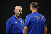 Zinedine Zidane (France 98) and Christophe Dugarry (France 98) during the 2018 Friendly Game football match between France 98 and FIFA 98 on June 12, 2018 at U Arena in Nanterre near Paris, France - Photo Stephane Allaman / ProSportsImages / DPPI