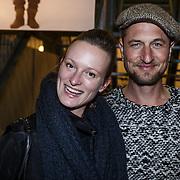 NLD/Amsterdam/20131113 - VIP avond bij Isabel Marant pour H&M, Sebastian Labrie en partner Kim Vos