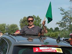 05.07.2015, Scheibbs, AUT, Österreich Radrundfahrt, 1. Etappe, Mörbisch nach Scheibbs, im Bild Wolfgang Weiss (Tourdirektor) // Tourmanager Wolfgang Weiss of Austria during the Tour of Austria, 1st Stage, from Mörbisch to Scheibbs, Scheibbs, Austria on 2015/07/05. EXPA Pictures © 2015, PhotoCredit: EXPA/ Reinhard Eisenbauer
