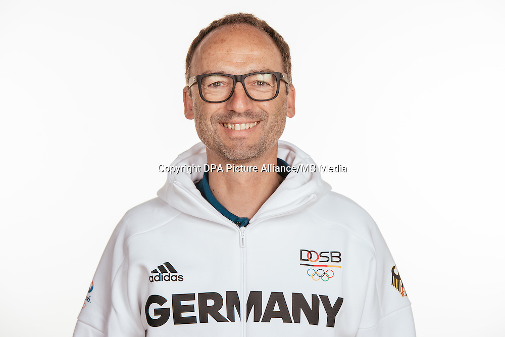 Thomas Krone poses at a photocall during the preparations for the Olympic Games in Rio at the Emmich Cambrai Barracks in Hanover, Germany, taken on 12/07/16   usage worldwide
