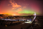 Northern Lights at Whitley Bay, England - 27/02/2014