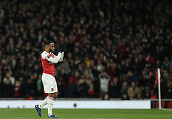 Alexandre Lacazette of Arsenal applauds the Arsenal fans as he is substituted - Mandatory by-line: Arron Gent/JMP - 11/04/2019 - FOOTBALL - Emirates Stadium - London, England - Arsenal v Napoli - UEFA Europa League Quarter Final 1st Leg