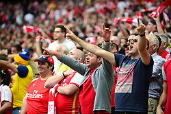 Arsenal fans cheer during the FA Cup final game against Chelsea - Mandatory by-line: Dougie Allward/JMP - 27/05/2017 - FOOTBALL - Wembley Stadium - London, England - Arsenal v Chelsea - Emirates FA Cup Final