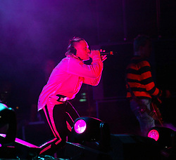 The Prodigy on stage at Gig on the Green 24/8/2002. Pic : Michaek Schofield