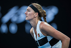 January 26, 2019 - Melbourne, VIC, U.S. - MELBOURNE, VIC - JANUARY 26: PETRA KVITOVA (CZE) during day thirteen match of the 2019 Australian Open on January 26, 2019 at Melbourne Park Tennis Centre Melbourne, Australia (Photo by Chaz Niell/Icon Sportswire (Credit Image: © Chaz Niell/Icon SMI via ZUMA Press)