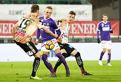 10.02.2018, Ernst Happel Stadion, Wien, AUT, 1. FBL, FK Austria Wien vs Lask, 22. Runde, im Bild Christian Ramsebner (LASK), Christoph Mondschein (FK Austria Wien) // during Austrian Football Bundesliga Match, 22nd Round, between FK Austria Vienna and Lask at the Ernst Happel Stadion, Vienna, Austria on 2018/02/10. EXPA Pictures © 2018, PhotoCredit: EXPA/ Alexander Forst