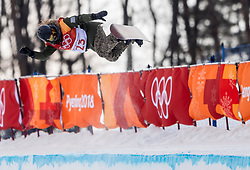 PYEONGCHANG, SOUTH KOREA - FEBRUARY 12: Snowboarder Kaja Verdnik of Slovenia during the Women's Halfpipe Snowboard Qualifications at Phoenix Snow Park on February 12, 2018 in PyeongChang, South Korea.  Photo by Ronald Hoogendoorn / Sportida