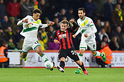 Ryan Fraser (24) of AFC Bournemouth on the attack during the EFL Cup 4th round match between Bournemouth and Norwich City at the Vitality Stadium, Bournemouth, England on 30 October 2018.