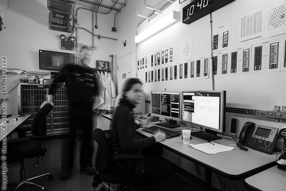 Kael Hanson and John Hardin in the Ice Cube Laboratory