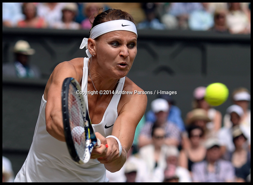 Image ©Licensed to i-Images Picture Agency. 03/07/2014. London, United Kingdom. Lucie Safarova in the Wimbledon Ladies Singles Semi Finals  at Wimbledon. Picture by Andrew Parsons / i-Images