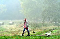 October 4, 2018 - Sidcup, UK - Sidcup, UK..An early morning dog walk..An autumnal misty morning in South East London at Foots Cray Meadows,Sidcup. (Credit Image: © Grant Falvey/London News Pictures via ZUMA Wire)