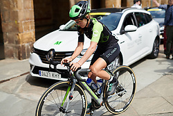 Kaitlin Keough (USA) makes her way to the start line at Emakumeen Bira 2018 - Stage 1, a 108 km road race starting and finishing in Legazpi, Spain on May 19, 2018. Photo by Sean Robinson/Velofocus.com