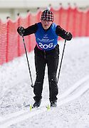 Adam Pikul Polish athlete with intellectual disability competes in Finals of Cross Country 1000 meters Race during 2013 Special Olympics World Winter Games PyeongChang at Cross Country Skiing Venue on February 4, 2013...South Korea, PyeongChang, February 4, 2013..Picture also available in RAW (NEF) or TIFF format on special request...For editorial use only. Any commercial or promotional use requires permission...Photo by © Adam Nurkiewicz / Mediasport