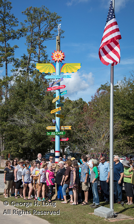 Dedication of the totem or Spirit Stick during the Abita Springs Water Festival; November 5, 2017; photo by George H. Long