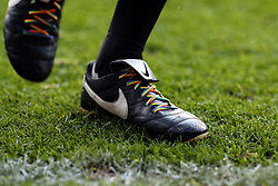25 November 2017 - Premier League Football - Crystal Palace v Stoke City - Referee Mike Dean wears Rainbow Laces in his boots - Photo: Charlotte Wilson / Offside