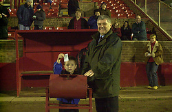 MASCOT DRAWS WINNING TICKET WITH VICE CHAIRMAN MICK LEECH, Kettering Town v Hednesford 12th February 2002