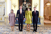 Staatsbezoek aan Luxemburg dag 1 / State visit to Luxembourg day 1<br /> <br /> Op de foto / On the photo: Officiele foto in het Palais Grand-Ducal met Koning Willem Alexander en koningin Maxima met Groothertog Henri en Groothertogin Maria Teresa / Official photo at the Palais Grand-Ducal with King Willem Alexander and Queen Maxima with Grand Duke Henri and Grand Duchess Maria Teresa