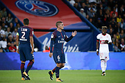 Marco Verratti (psg) received a yellow card and must leave the playground during the French championship L1 football match between Paris Saint-Germain (PSG) and Toulouse Football Club, on August 20, 2017, at Parc des Princes, in Paris, France - Photo Stephane Allaman / ProSportsImages / DPPI