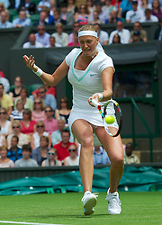 LONDON, ENGLAND - Tuesday, June 26, 2012: Petra Kvitova (CZE) during the Ladies' Singles 1st Round match on day two of the Wimbledon Lawn Tennis Championships at the All England Lawn Tennis and Croquet Club. (Pic by David Rawcliffe/Propaganda)