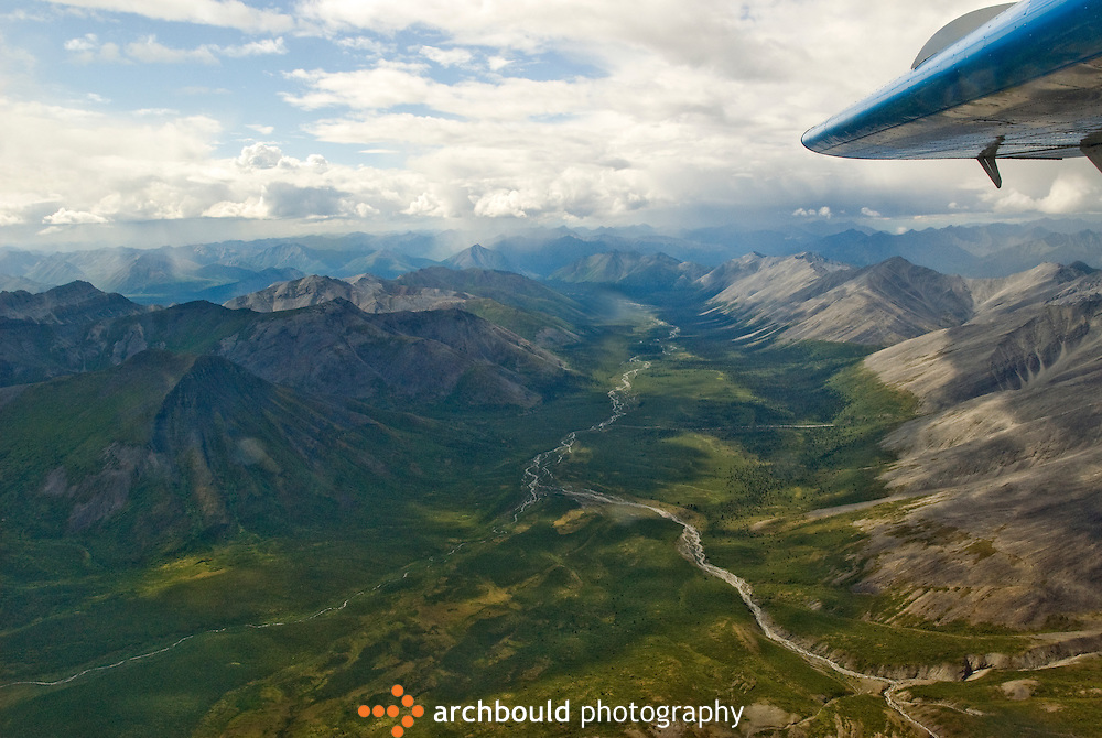 Aeiral photo of Peel Plateau, Yukon, Canada