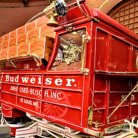 Budweiser Delivery Truck in Clydesdale Stable at Anheuser-Busch in St. Louis, Missouri<br />