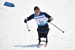 MEENAGH Scott GBR LW12 competing in the ParaSkiDeFond, Para Nordic Skiing, Sprint at  the PyeongChang2018 Winter Paralympic Games, South Korea.