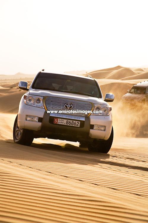 Desert Safari in the Abu Dhabi desert. This is also a popular tour in Dubai