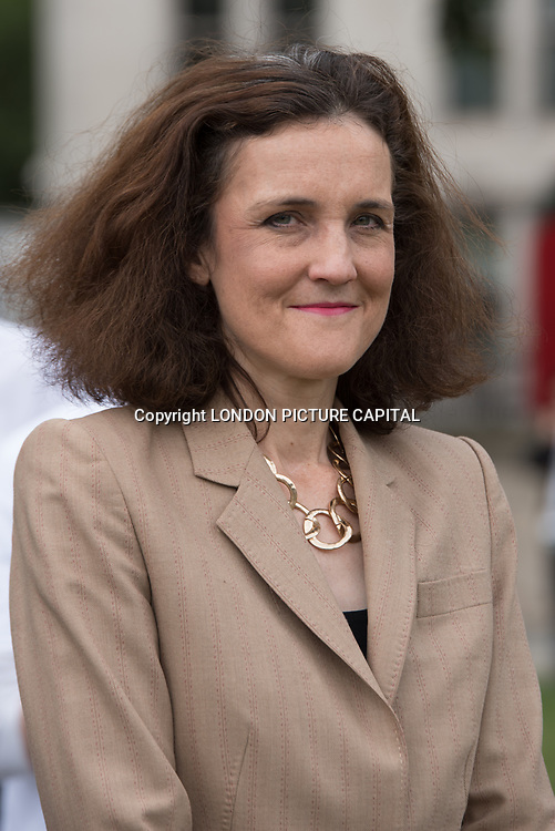 Speaker Theresa Villiers Mp rally to STOP Live Transport 2018 unnecessary suffering in Parliament Square June 14 2018, London, UK.