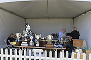 San Diego, California. USA.  Trophy Cleaning and transportation, of the Cups and Plates to be presented to  winning crews at the 2013 Crew Classic Regatta, Mission Bay.  07:39:06.  Saturday  06/04/2013   [Mandatory Credit. Peter Spurrier/Intersport Images]  ..