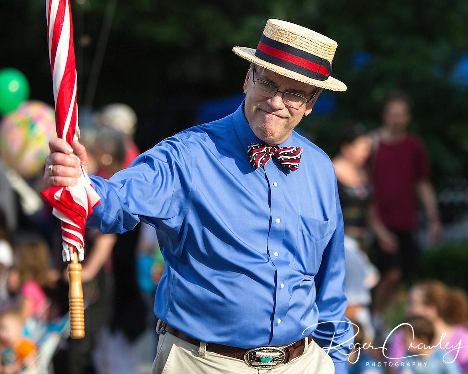 State Representative Warren Kitzmiller in the July 3rd Parade in Montpelier Vermont 2013.