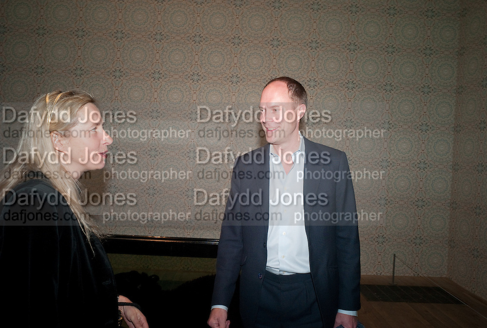 IWONA BLAZWICK; HARRY BLAIN, Damien Hirst, Tate Modern: dinner. 2 April 2012.