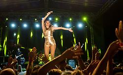 Croatian singer Severina Vuckovic performs during Music concert in Portoroz, on July 22, 2017 at Plaza Portoroz, Slovenia. Photo by Vid Ponikvar / Sportida