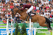 SHK Ali bin Khalid Al Thani - Vienna Olympic<br /> Alltech FEI World Equestrian Games™ 2014 - Normandy, France.<br /> © DigiShots