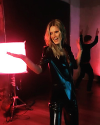 """Toni Garrn releases a photo on Instagram with the following caption: """"Wait till you see my background dancers in full action \ud83e\udd38\ud83c\udffc\u200d\u2640\ufe0f\ud83d\ude0e Hint: It\u2019s not exactly a music video that we\u2019re shooting \ud83d\ude02"""". Photo Credit: Instagram *** No USA Distribution *** For Editorial Use Only *** Not to be Published in Books or Photo Books ***  Please note: Fees charged by the agency are for the agency's services only, and do not, nor are they intended to, convey to the user any ownership of Copyright or License in the material. The agency does not claim any ownership including but not limited to Copyright or License in the attached material. By publishing this material you expressly agree to indemnify and to hold the agency and its directors, shareholders and employees harmless from any loss, claims, damages, demands, expenses (including legal fees), or any causes of action or allegation against the agency arising out of or connected in any way with publication of the material."""