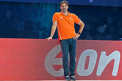 Coach Harry van der Meer of Netherlands during Netherlands vs Malta on LEN European Aquatics Waterpolo January 21, 2020 in Duna Arena in Budapest, Hungary