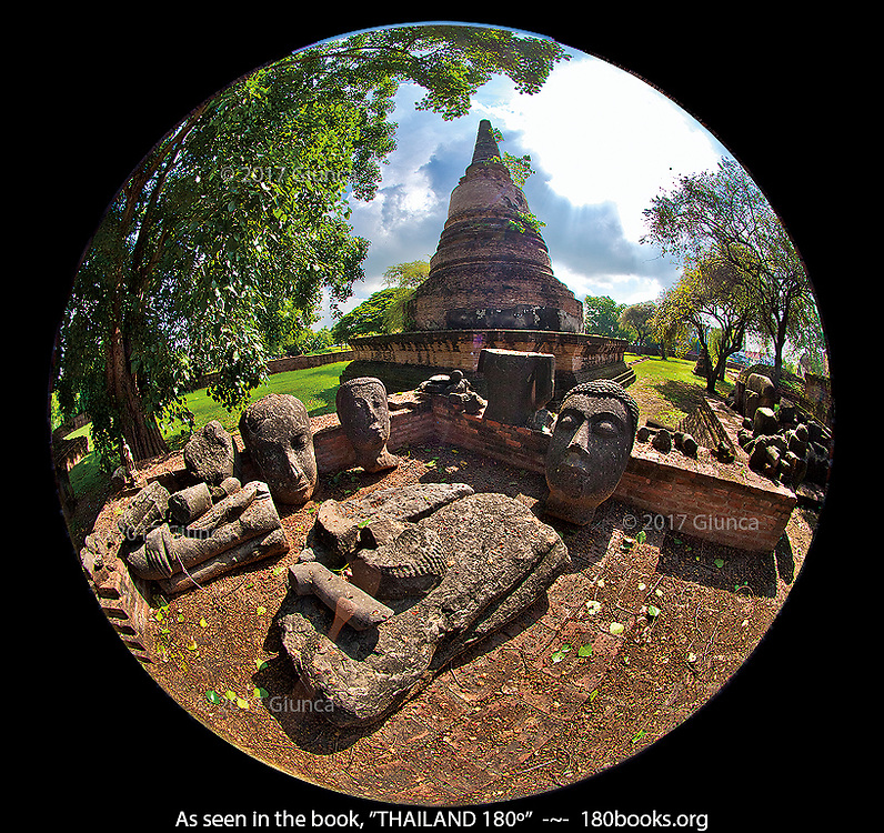 Sacred relics and ruins in Ayutthaya, Thailand