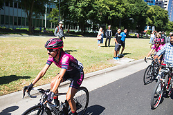 BePink Cycling Team riders roll to the start of Stage 3 of the Amgen Tour of California - a 70 km road race, starting and finishing in Sacramento on May 19, 2018, in California, United States. (Photo by Balint Hamvas/Velofocus.com)