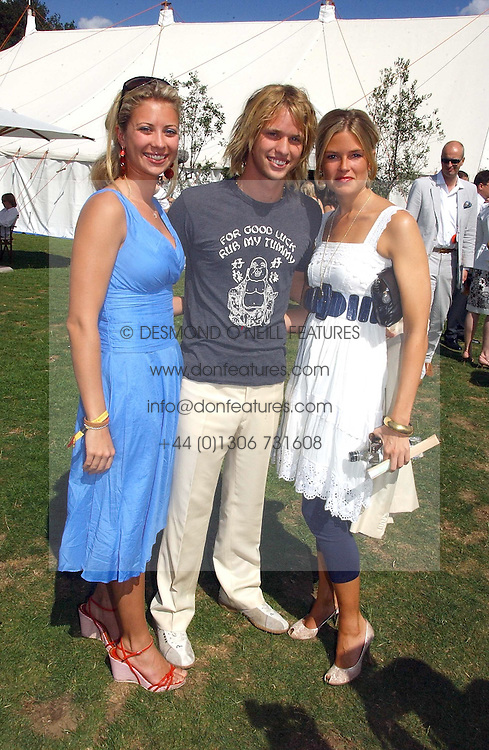 Left to right, HOLLY BRANSON, SAM BRANSON and ISABELLA ANSTRUTHER-GOUGH-CALTHORPE at the Cartier International polo at Guards Polo Club, Windsor Great Park, on 30th July 2006.<br /><br />NON EXCLUSIVE - WORLD RIGHTS