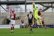 Morecambe Goalkeeper Barry Roche during the Sky Bet League 2 match between Northampton Town and Morecambe at Sixfields Stadium, Northampton, England on 23 January 2016. Photo by Dennis Goodwin.