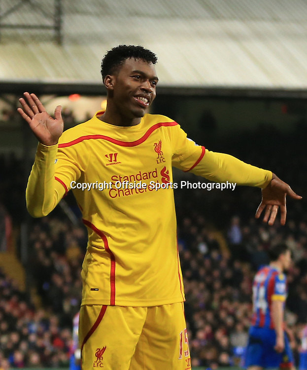 14 February 2015 - The FA Cup Fifth Round - Crystal Palace v Liverpool - Daniel Sturridge of Liverpool celebrates scoring a goal to make it 1-1  - Photo: Marc Atkins / Offside.