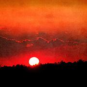 Sun sets on Darien, GA