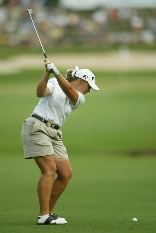 Angela Stanford.2003 Samsung World Championship.3rd Round.TPC at the Woodlands.The Woodlands, TX.Saturday, October 11 2003..photograph by Darren Carroll