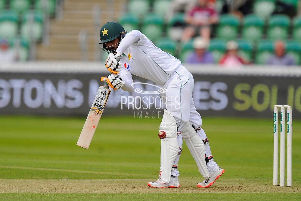 Pakistan's Mohammad Hafeez during the Tour Match match between Somerset County Cricket Club and Pakistan at the Cooper Associates County Ground, Taunton, United Kingdom on 3 July 2016. Photo by Graham Hunt.