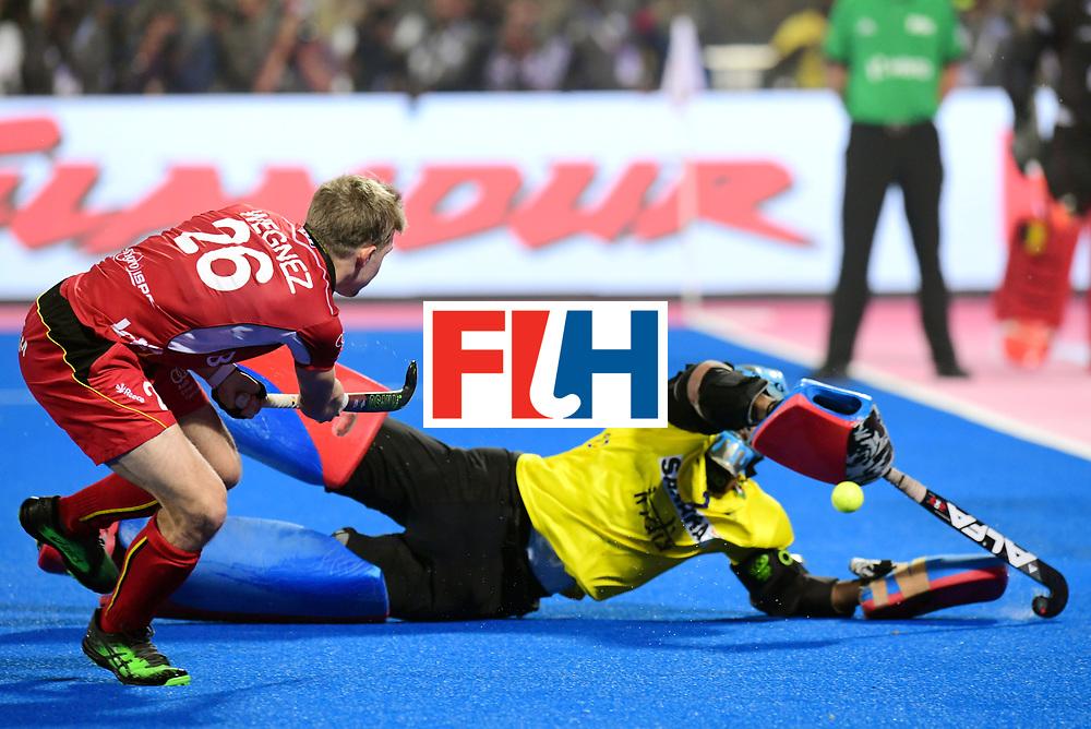Odisha Men's Hockey World League Final Bhubaneswar 2017<br /> Match id:13<br /> Belgium v India<br /> Foto: Shoot Out<br /> Victor Wegnez (Bel) miss<br /> COPYRIGHT WORLDSPORTPICS FRANK UIJLENBROEK