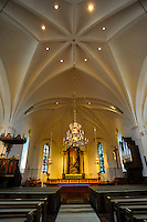 Sweden, Värmland, Sunne. Sunne Church is a large stone church built in 1888. Interior of the church.