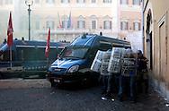 Roma  14 Settembre 2011.La polizia interviene  per disperdere i dimostranti che manifestavano davanti alla Camera dei Deputati contro la manovra economica.