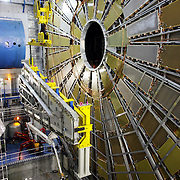 CERN di Ginevra 13/02/07, il nuovo impianto dell'acceleratore LHC (Large Hadron Collider)  lungo 27 km ad una profondità media di 80 metri... nella foto il rivelatore Atlas....fotografia di Michele D'Ottavio